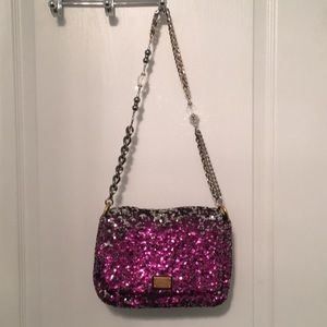 Dolce and Gabbana fuchsia and silver Sequin bag